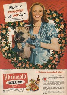 Valentine's Day Rheingold Beer ad from 1947.