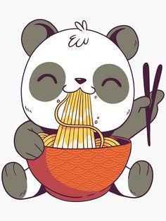 Japan Design, Kawaii Art, Ramen, Panda, Doodles, Snoopy, Stickers, Cute, Art Ideas