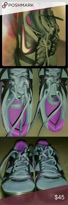 Nike shocks Grey | Fuchsia snd white Nike Shocks small stain on right toe but can be removed NIKE Shoes Sneakers