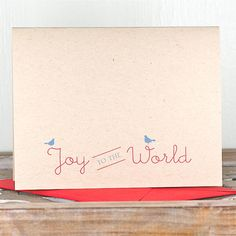 Christmas Cards / Holiday Cards - Joy Joy Joy Personalized Folded Note Cards