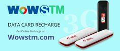 Now recharge your mobile & data card online from anywhere at anytime. #datacardrecharge, #datacard, #rechargeonline, #mobilerecharge