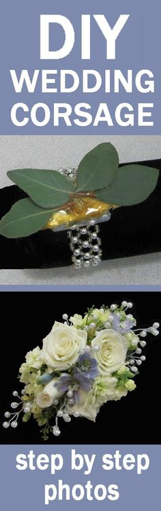 How to Make a Corsage - Easy Wedding Flower Tutorials Learn how to make corsages, boutonnieres, bridal bouquets, church florals and reception centerpieces. Buy discount flowers and florist supplies.