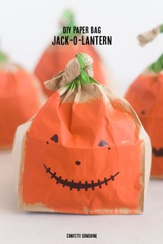 Great Halloween Ideas | DIY Paper Bag Jack-O-Lantern