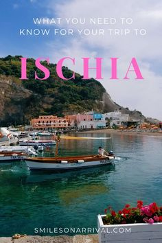 If you're thinking of visiting Ischia, do it! Before you go, check out some info that will help you plan your trip to this unforgettable Italian island. Travel With Kids, Family Travel, Italy For Kids, Travel Reviews, Visit Italy, Travel Tips, Travel Ideas, Travel Inspiration, Europe Destinations