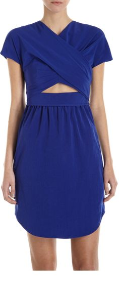 CARVEN  Draped Cutout Dress