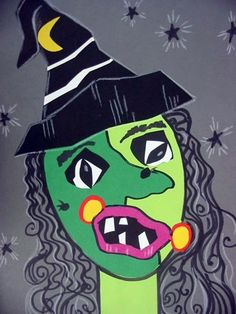 -Picasso style witch    Artsonia School » Cedar Creek Elementary » Meet the Teachers!