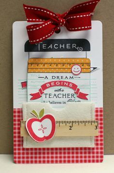 teacher card like the sketch - Sincerely Yours