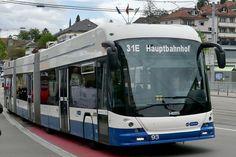 Der neue VBZ DGT 93 mit SwissTrolleyPlus Technologie als Shuttle vom HB zum Tram Museum, am 11.5.19 nach der Abfahrt in Burgwies. Bus City, Busses, Public Transport, Coaches, Long Distance, Transportation, Museum, Vehicles, Pictures