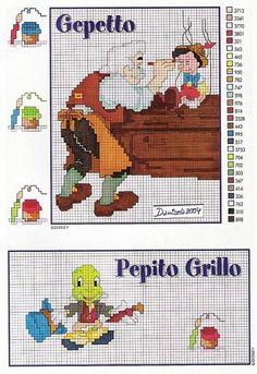 Geppetto, Pinocchio & Jiminy Cricket