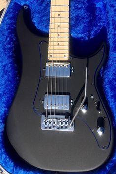 NEW VIGIER EXCALIBUR INDUS TEXT BLACK ELECTRIC GUITAR & HISCOX CASE #Vigier #electricguitar
