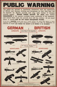 Interesting that the German ones are shaped like fish and birds, while the British ones are obviously mechanical.