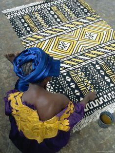 textile printing in Mali. Miss the creativity of Mali