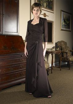 Graceful Sweetheart Flat Pleated Beading Tiered A-line Mom Of Bride Gown