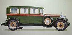 第4シリーズ1928 Packard 443セールスアートワーク| 古いモーター