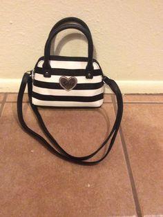 Black and white striped purse 14.99 justice