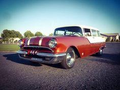 1955 Pontiac Chieftain Model 860 Colony 2 Door Wagon....not very common.....