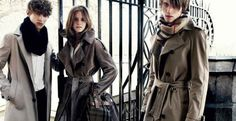 "Charismatic Emma ""Hermione"" Watson is the star of Burberry Autumn/Winter ad campaign shot by fashion photographer Mario Testino around Westminster. The old British actress surrounded by young male Burberry Trench, Burberry Prorsum, Burberry Brit, Burberry Models, Trench Coats, Emma Watson, Burberry Outlet, Christopher Bailey, Tailored Coat"