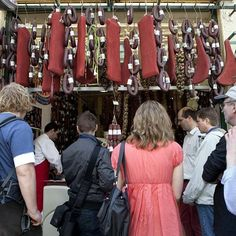Greece   Yup, it's cured #meat & #sausages hanging from the ceiling!  Our #foodtour is full of surprises!  #Athens… #traveltips #travel