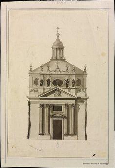 [Fachada del Sagrario de la Catedral de Jaén]. Rodríguez, Ventura 1717-1785 — Dibujo — 1761