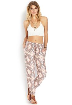Sand and Stone Ikat Pants | FOREVER21 Love this festival look! #F21Festival #OOTD #F21Spring
