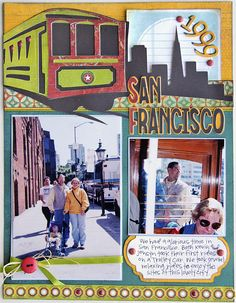 San Francisco layout Cricut project