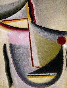 """Abstract Head"" by Alexej Jawlensky (1930)"