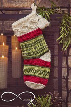 Crochet Christmas Stocking Pattern, Crochet Stocking, Holiday Crochet, Christmas Makes, Holiday Crafts, Holiday Decor, Crochet Designs, Christmas Stockings, Christmas Ornament