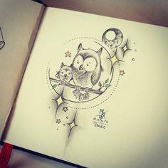"73 Me gusta, 6 comentarios - Disako (@disako_ink) en Instagram: ""Eulen Wanna do #wannadotattoo #wannado #tattoo #tattoodrawing #tattoodesign #tattooidea…"""