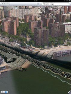 Brooklyn Bridge on iPhone Maps