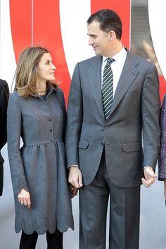 Doña Letizia Ortiz y don Felipe, miradas tiernas y cómplices