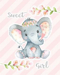 Classy and cute, this cute elephant wall art will be perfect in your babys elephant, jungle or safari themed nursery. Purchase, download the file, print, frame and hang it for a quick and easy DIY to make your babys nursery more soothing and cheerful. The watercolor imagery is