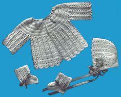 Crochet  Baby Set #206 Pattern