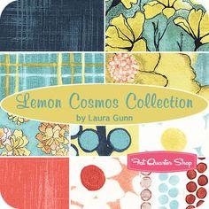 Lemon Cosmos Collection Fat Quarter Bundle Laura Gunn for Michael Miller Fabrics - Fat Quarter Shop