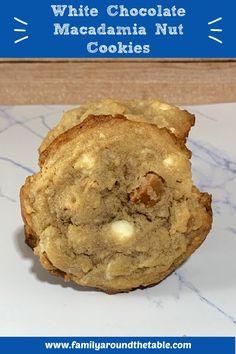 White Chocolate Macadamia Nut Cookies #SummerDessertWeek Ice Cream Pies, Ice Cream Cookies, Cake Mix Cookies, Sugar Cookie Bars, Cookie Swap, Baking Recipes, Cookie Recipes, Baking Soda Baking Powder, Cream And Fudge