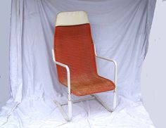 Retro Orange Patio Chair Lloyds Loom Wicker Chair Bouncy Rocking R