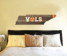 University of Tennessee VOLS Wooden State by 4DegreesCreatives