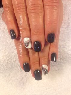 Shellac with hand painted feathers
