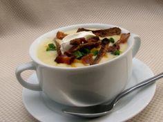 """Loaded """" Baked"""" Potato Soup. Photo by lazyme"""