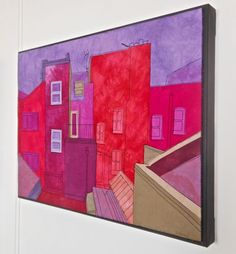 """Almost all of my art quilts are mounted onto gallery canvas. I find that this gives the piece more """"presence"""" when displayed. Without the ..."""