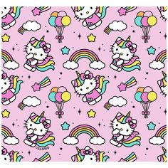 Hello Kitty Backgrounds, Unicorn Pattern, Mask For Kids, Cute Wallpapers, Overlays, Stitch, Face, Fabric, Prints