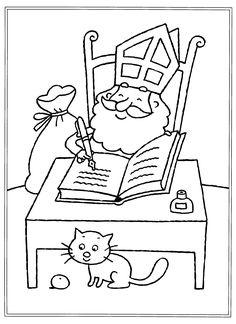 Sinterklaas is Jarig - Kleurplaat Sinterklaas is Jarig - Kleurplaat Saint Nicolas, Coloring Pages, Unicorn, Saints, Snoopy, Seasons, Drawings, Birthday, Stage