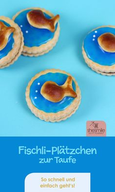 Fischli-Doppelkekse zur Taufe meines Patenkinds The fish, a fitting symbol of baptism. In search of original cakes, cookies or cakes for the baptism of my godchild, I have always looked for the Italian Cookie Recipes, Italian Desserts, Holiday Appetizers, Holiday Desserts, Holiday Parties, Baby Food Recipes, Fall Recipes, Baby Showers Juegos, Godchild