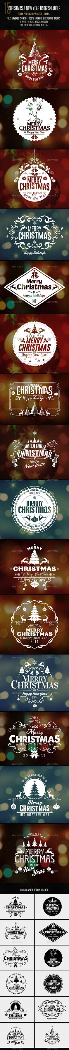 Car sticker photoshop tutorial - Christmas New Year Badges Sticker