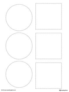 **FREE** Line Tracing: Square and Circle Worksheet.Tracing lines reinforces fine motor skills in your child and prepares them for writing. Line Tracing Worksheets, Free Printable Math Worksheets, Shapes Worksheets, Writing Worksheets, Preschool Fine Motor Skills, Kindergarten Worksheets, Preschool Writing, Writing Lines, Pre Writing