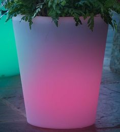 Large Color-Changing Solar Planter
