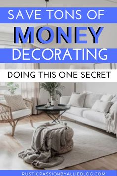 Are you a DIY and dollar store decor addict? Youll love this secret to save a to… - home decor on a budget bedroom Fixer Upper, Home Design, Interior Design, Cheap Home Decor Online, Joanna Gaines Style, Living Room Sets, Cozy Living, Small Living, Modern Living