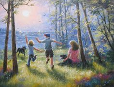 paintings of children playing - Google Search