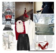 """""""~Red, White & Black~"""" by johannamaria37 ❤ liked on Polyvore featuring Chanel, RED Valentino, Color My Life, The Row, Anna Sui, Temperley London, velvet, MINISKIRT and annasui"""