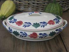 Boerenbont SC 483a ovale dekschaal Renee nr. 3 | Boerenbont Societe Ceramique 483a | Webwinkel Servies Merij