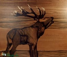 ORIGINAL Wooden nature Deer art of wood marquetry inlay intarsia home decor wild picture woodworking animal handmade gift by Andulino Deer Decor, Thick Cardboard, Deer Art, Wood Boxes, Woodworking Tips, Pyrography, Great Photos, Wood Art, Techno